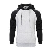 Men's Jackets 2021 Sweater Raglan Pullover Sports Hoodie Fashion Trend Brushed Couple Wear Stitching Casual