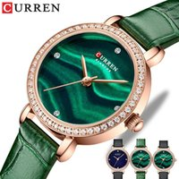 Montres-bracelets Curren Strass de luxe Quartz Womens Charmant poignet avec une montre mince monight horloge femelle
