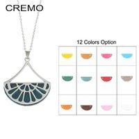 Cremo Chain Necklaces Georgette Fan Pendant Choker Necklace Interchangeable Leather Charm Women & Pendants Chains