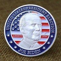 Moda Art Deco Hatıra Madalyon Kabartmalı Hediye Gümüş Dolar Metal Boya Amerika Birleşik Devletleri Yeni Başkanı Joe Biden Pin Toptan