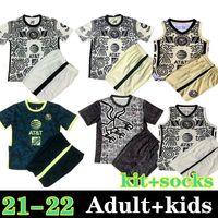 Homens + Kids Kit + Meias 2021 Liga MX Club América Soccer Jersey 21 22 Giovani América Terceiro Uan Peralta P.Aguilar S.Romero Castillo F.Vinas México Camisa de Futebol