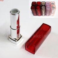 DIY leerer quadratischer quadratischer Form Lippenstift Rohrbehälter, Lippenbalsam Flasche Hohe Qualität kosmetische Make-up-Stift Containergoods