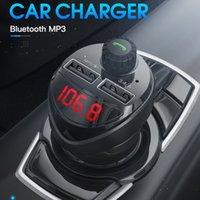 شاحن سيارة كيت FM الارسال بلوتوث موتور الصوت مشغل MP3 TF بطاقة شواحن الهاتف المزدوج USB ل Xiaomi MI مع شاشة LED