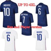 20 21 Mbappe Griezmann Pogba Futebol Jerseys Versão 2021 Camisa Nacional de Futebol Kit Kit uniforme
