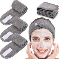 Kozmetik Wrap Türban Yüz Yıkama Ayarlanabilir Yoga Kadınlar Yüz Havlu Banyosu Hairband Makyaj Bantlar Spa Salon Aksesuarları Saç1