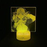 Ночная ночь света светодиодный аниме 3D подсветка лампы фонарь на ночном освещении цвета Изменить quintessential quintuplets nakano nino app control decor вентиляторы подарок