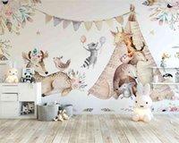 Beibehang пользовательские 3D бумаги красивые оригинальные лесные животные детская комната фон картина настенные бумаги домашнего декора