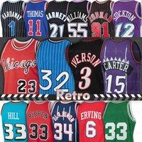 23 Michael Basketball Jerseys Allen 3 Iverson Jason 55 Williams Dennis 91 Rodman Scottie Pippen Thomas Vince 15 Carter Patrick 33 Ewing Tim 1 Hardaway Julius 6 erving
