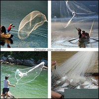 Fishing Sports & Outdoorsfishing Aessories 8Ft 2.4M Net Bait Easy Throw Hand Cast 3 4 Inch Strong Nylon Mesh + Sinker1 Drop Delivery 2021 Kp