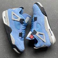 مع مربع 4S جامعة bluemens كرة السلة أحذية عالية og UNC CT8527-400 تك رمادي أبيض أسود 4 الرجال النساء المدربين الرياضة أحذية رياضية 36-46