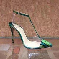 Doris fanny schlange gedruckt t gebundene knöchelriemen sommer sandalen high heels sexy stiletto frauen schuhe hochzeitsfeier große größe
