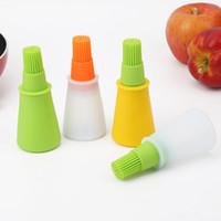 Flaschenbürste Küchenwerkzeug Kit Barbecue Set Silikon Baste Pinsel weiche flexible Multi-Farben vorhanden Küchenzubehör GWF9147