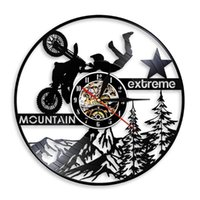 Wall Clocks Mountain Extreme Record Clock Motorcycles Laser Etched With LED Light Motorbike Lamp Home Decor Gift