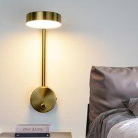 Wall Lamps Modern Lights 9W With Switch Led Gold Livingroom Indoor Lighting Bedside For Bedroom Sconce