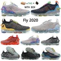 2021 زائد الاحذية الأحذية ذبابة متماسكة 3.0 الرجال أوريو 2020 ثانية البيضاء جنوب شاطئ النبيلة الأحمر الليزر الذهب الوردي ارتفع الأبخرة الرياضية أحذية رياضية قبالة رجل إمرأة المدربين