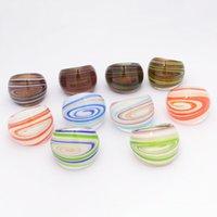 10 teile / los zufällig mit farbigem Glasur Ring Murano Goldfolie Farbe Sternenhimmel Muster Ringe mehr 17-19 mm