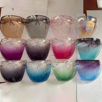 Sicherheits-Faceshield-Masken mit Brillenrahmen transparent Voll-Abdeckung Schutzmaske Face Shield Clear Designer