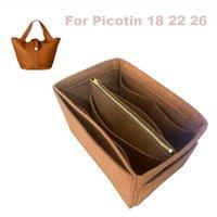 Für Picotin 18 22 26 Organizer-Geldbeuteleinsatz Handgefertigte 3mm Filz-Taschen-Organizer-Taschen (abnehmbarer Beutel mit Metall-Zip) 210402