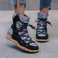 Boots Women's Retro Bohemian Style Side Zipper Short Booties Casual Soft Sole Female Winter Botas Mujer Invierno 2021