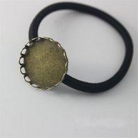 10 قطع 20 25 ملليمتر جولة زهرة كابوشون حبل الشعر إعداد فارغة القرط قاعدة حجاب الحشرات علبة للمجوهرات صنع اللوازم 986 T2