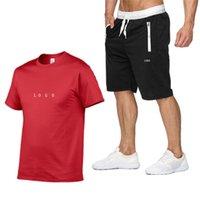 Luxe Top Quality Hommes Summer Tracksuit Tee shirts Accueil Ensemble Mens T-shirt Shorts Pantalons T-shirt en coton Jogging Sports Suit 2021 Vêtements