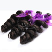 Peruvian Loose Wave Virgin Hair Weaves 3Pcs Lot Unprocessed Peruvian Loose Wavy Curly Remy Human Hair Weave Bundles Natural Black Extensions