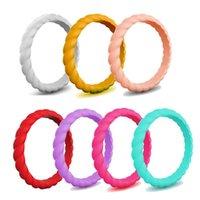 3mm плетеное силиконовое кольцо свадебные кольца для женщин йога спортивные гипоаллергенные кроссфит движения FDA гибкие резиновые кольца