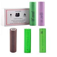 25 M. 2500MAH 30Q HG2 VTC5 VTC6 3000MAH 18650 Batterie Lithium Plat InR18650 Cellule de Vape rechargeable pour LG Samsung