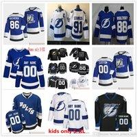 Custom 2021 Reverse Retro Mann Frauen Jugend Kinder Hockey Tampa Bay Lightning Curtis Mccelhinney Erik Cernak Gemel Smith Jan Rutta Lukas Schenn Trikots