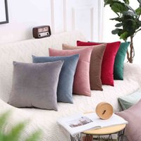 Pure simple candy color Dutch velvet pillow Nordic fresh sofa dining chair cushion office pillowRD7V