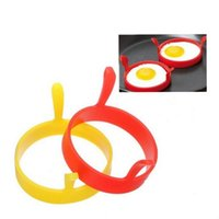 Silicone Egg Fried Fry Frier Fashion Round Kitchen Poacher Egg Pancake Ring Mould Tool Fried Breakfast Mold VTKY2160