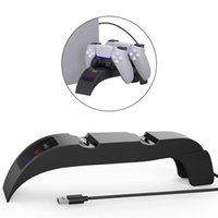 Game Controllers & Joysticks Dual Fast Charging For PS5 Wireless Controller Dock Station Joystick Gamepads