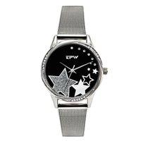 المعصم المعصم الأزياء الحديثة الكوارتز مشاهدة المرأة شبكة الفولاذ المقاوم للصدأ watchband جودة عالية عارضة ساعة اليد هدية للإناث نمط