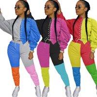ZKYZWX Two Piece Set Tracksuit pour femmes automne Vêtements Sweat-shirt Top et Joggers 2 pièces Ensembles Assistants Lounge Wear Tenue
