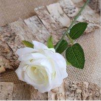 Artificial Velvet Roses DIY Wedding Bridal Bouquet Arranging Accessories 9 Colors30cm Long Single Bunch Stem Rose Flower Silk