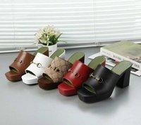 الصيف عالية الكعب النعال معدنية مشبك الأزياء إلكتروني كسول الأسود نصف المرأة أحذية الشاطئ يتخبط مثير سيدة الكعوب 100٪ ناعمة جلد البقر الصنادل حجم كبير 35-42 US4-US11