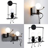 Lampes murales humanoïdes Créatifs LED Lampe à l'intérieur Lampe d'intérieur SCONCE Decor de l'art Moderne E27 pour chambre à coucher enfants Salle de cuisine