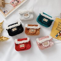 Sweet Princess Accessories Pearl Children's Messenger Purse Girls Fashion Korean Style Parent Child Embroidery Bag Wholesale Cute Littl