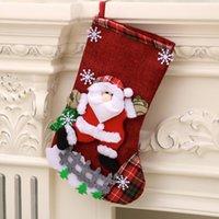 Boże Narodzenie Pończochy Boże Narodzenie skarpetki Duże pończochy Postać Santa Snowman Renifer Snowflake Choinki Ogrodzenie Cute Candy GWF10003