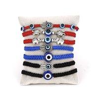Ojos a Evi El ojo del diablo Pulsera Azul Link Pulseras Tejido Glaze Jeweltery Ornamentos Acero Inoxidable Cuerda de cuerda 1 8YH Y2