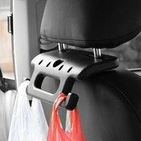 Courroies de sécurité Accessoires 1PC Voiture Hand Grip Auto Arrêt Assistance Poignée Appuie-tête Couleur Noir Couleur ABS Crochets Bar 19.5 * 15 2cm