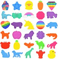 DHL Push Popit Bubble Party Fidget Toy Stress Reliever Sensory Toys Ansiedad Alivio para los niños regalos de cumpleaños