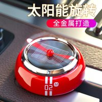 Car Air Freshener Solar Perfume Holder Propeller Automatic Rotated Aroma Diffuser Auto Interior Purifier Ornaments