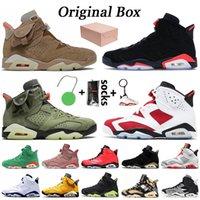 Nike Air Jordan 6 6s retro 6 Jumpman Travis Scott 6 6s Kaktus Jack Damen Herren-Basketball-Schuhe Hare 6 DMP Infrarot schwarz Oregon Ducks Herren Trainerturnschuhe