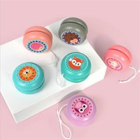 Animal bonito impressão de madeira yoyo brinquedos joaninha brinquedo crianças yo-yo criativo presentes dos desenhos animados para crianças bola de madeira 6cm