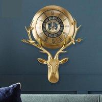 100% Pure Copper 3D Wall Clocks Home Decore High End Luxury Digital Clock Living Room Decoration Modern Design
