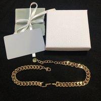 여자 팔찌를위한 금 목걸이 새로운 진주 알파벳 패션 목걸이 고품질 야생 성격 목걸이 보석 공급