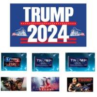 ترامب 2024 العلم الولايات المتحدة الرئيس الانتخابات العلم حملة راية الطباعة الرقمية دعم راية العلم حديقة ساحة الأعلام خلفية