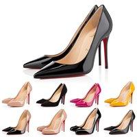 مع مربع الأحمر أسفل الكعب أحذية النساء اللباس أحذية رياضية عالية الكعب جدا أنماط كيت جولة أشار أصابع القدم مضخات قيعان جلد الجلد المدبوغ حجم 35-42