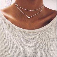 Mode Daint-Joyeux Heart MultiLayer Collier multicouche Bijoux Brincos Tropical pour femmes Chahers N5004